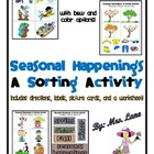 Seasonal Happenings: A Sorting Activity