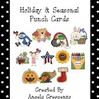 Seasonal Holiday Behavior Punch Cards