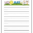 Seasonal Monthly Interlined Writing Paper