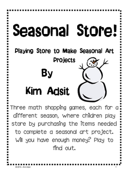 Seasonal Store - Playing Store to Make Seasonal Art Projects