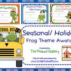 Seasonal/Holiday Frog Theme Awards