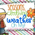 Seasons, Clothing, and Weather, Oh My! {Freebie}