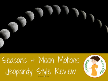 Seasons and Moon Motions (Earth and Moon Motions) Jeopardy