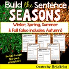 Seasons Build the Sentence {20 print and go printables}
