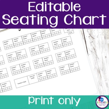 Seating and Attendance Chart