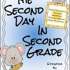 Second Day In Second Grade Unit ~ A Back To School Packet