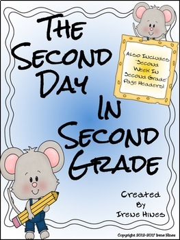 Second Day In Second Grade Unit ~ A Back To School Packet For 2nd Grade