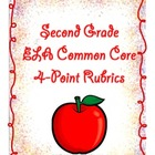 Second Grade 4-Point CCSS Language Arts Rubrics and Record Sheets