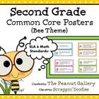 Second Grade (Bee Theme) Common Core Posters (ELA and MATH)