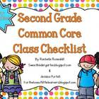 Second Grade Common Core Class Checklist {Now Editable!}