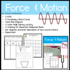 Second Grade Common Core: Forces and Motion-Sound and Vibration