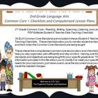 Second Grade Common Core Language Arts Checklists and Drop