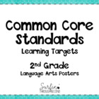 Second Grade Common Core Language Arts  Posters Black and White