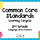 Second Grade Common Core Language Arts  Standards Posters