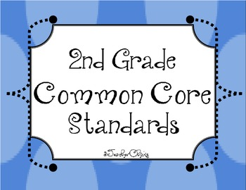 Second Grade Common Core List