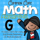Second Grade Common Core Math Assessments Geometry: 2.G.1,