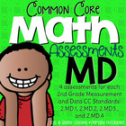 Second Grade Common Core Math Assessments Measurment & Dat