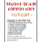 Second Grade Common Core Math Pack #1