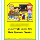 Second Grade Common Core Math Standards Checklist