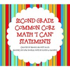 Second Grade Common Core Math &quot;Whooo Can? I Can!&quot; Statements