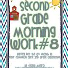 Second Grade *Common Core* Math and ELA Morning Work 8th M