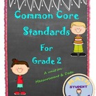 Second Grade Common Core:  Measurement & Data Bundle