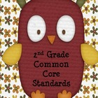 Second Grade Common Core Reading Standards Poster Cards