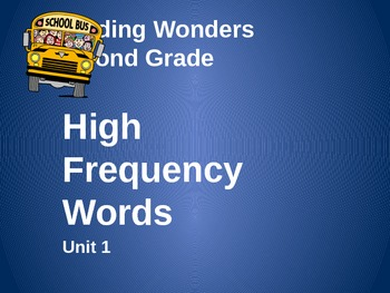 2nd Grade High Frequency Review - Reading Wonders Unit 1
