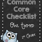 Second Grade Common Core Standard Checklist-OWLS!