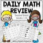 Second Grade Daily Math Review ~ Common Core Based ~ Weeks 1-10