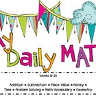 Second Grade Daily Math Review ~ Common Core Based ~ Weeks 11-20