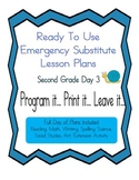 Second Grade Elementary Substitute Emergency Lesson Plans