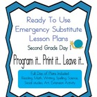 Second Grade Elementary Substitute, Emergency Lesson Plans
