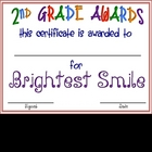 "Second Grade ""FUN"" Awards"