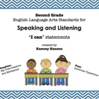 "Second Grade Language Arts Standards ""I Can"" Statements fo"