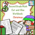 Second Grade Math Common Core Cut-and-Glue Workbook:  Holi