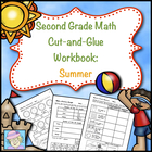 Second Grade Math Common Core Cut-and-Glue Workbook:  Summ