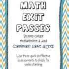 Second Grade Math - Common Core Exit Passes - Measurement & Data