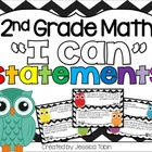 Second Grade Math I Can Statements for the Common Core