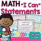 "Second Grade Math Kid Friendly Common Core ""I Can"" Stateme"