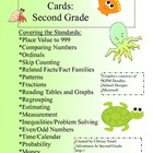 Second Grade Math Review Cards