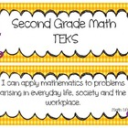 Second Grade Math TEKS Cards- UPDATED!