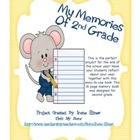 Second Grade Memory Book For The End Of The School Year