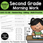 Second Grade Morning Work - Activities for Sept. - June Sc