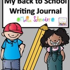 Beginning of the Year: My Back to School Writing Journal