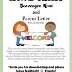 Second Grade Parent Info. and Child Scavenger Hunt