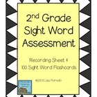 Second Grade Sight Word Assessment