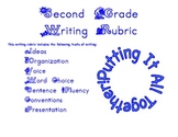 Second Grade Writing Rubric with the Traits of Writing