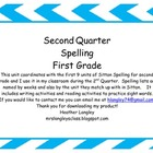 Second Quarter Spelling 1st Grade