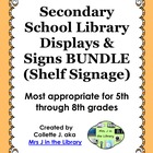 Secondary School Library Displays &amp; Signs (Shelf Signage)